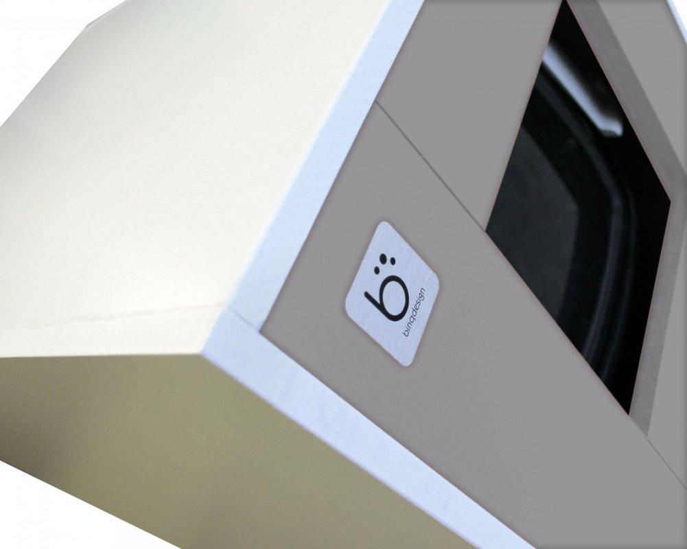 Binq - designová toaleta pro kočky šedivá + stelivo