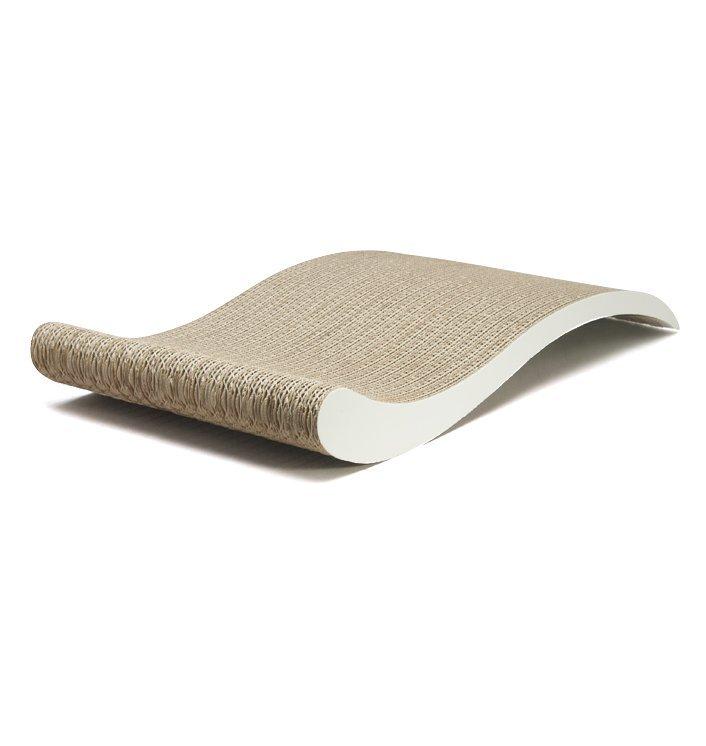 Designové kartonové škrábadlo pro kočky Vlna