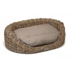Oválný ratanový pelíšek WINDSOR pro psa a kočku