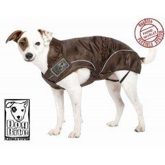 Nepromokavá bunda a pláštěnka pro psa - hnědá
