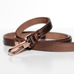 Luxusní kožené vodítko Copper pro psy