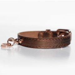 Luxusní kožený obojek Copper pro psa