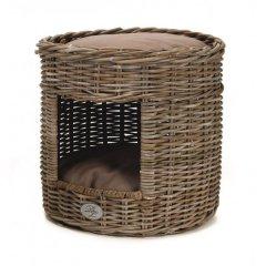 Designový pelíšek z ratanu pro kočky - TOWER