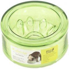 Zpomalovací miska Kaleido Rondure Manners pro psy - zelená