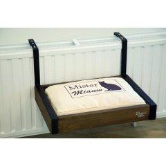 Závěsný pelíšek na radiátor pro kočku - dřevěný