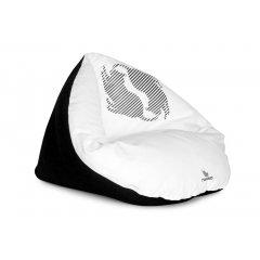 Rozložitelný pelíšek EMI 2v1 bílý - pro kočky a malé psy