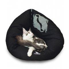 Rozložitelný pelíšek EMI 2v1 černý - pro kočky a malé psy