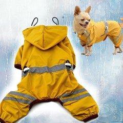Nepromokavý obleček a pláštěnka VISION pro psa - žlutá