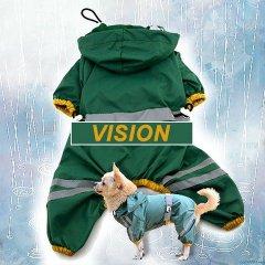 Nepromokavý obleček a pláštěnka VISION pro psa - zelená