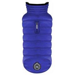 Zateplený obleček kabát Block pro psy - modrý