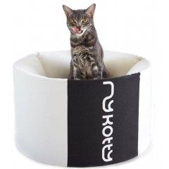 Vysoký pelíšek OTI pro kočky a psy - bílý