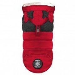 Zimní obleček pro psa - kabát Blitzen červený