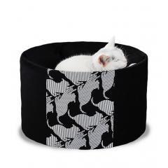 Vysoký pelíšek OTI pro kočky a psy - černý