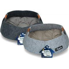 Plstěný pelíšek s polštářkem pro kočky a malé psy - Let's Relax!