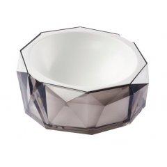 Miska Diamond pro kočku a psa - kouřově šedá