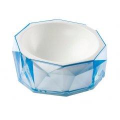 Miska Diamond pro kočku a psa - modrá