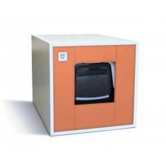 Binq - designová toaleta pro kočky oranžová
