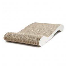 Designové kartonové škrabadlo Sofa - bílá