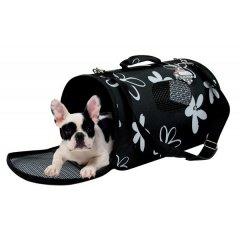 Módní cestovní taška Flower Bag - černá