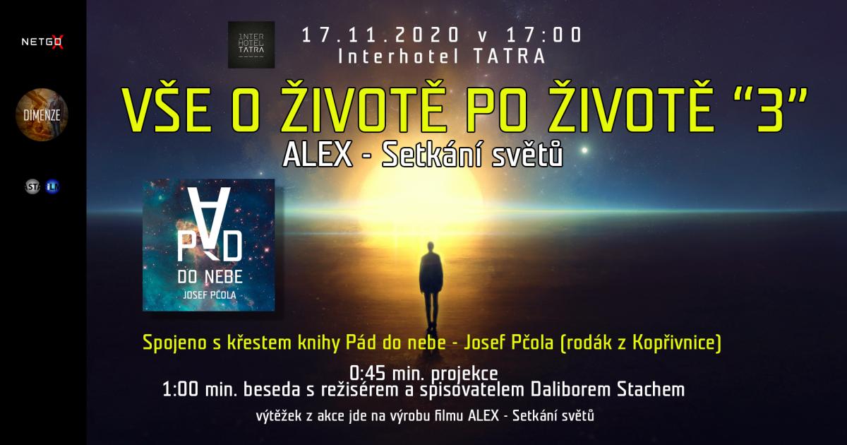 Vše o životě po životě - Kopřivnice 17.11.2020 od 17:00