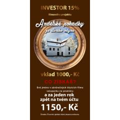 Krátkodobý Investor - Andělské pohádky ze starého mlýna za 15%