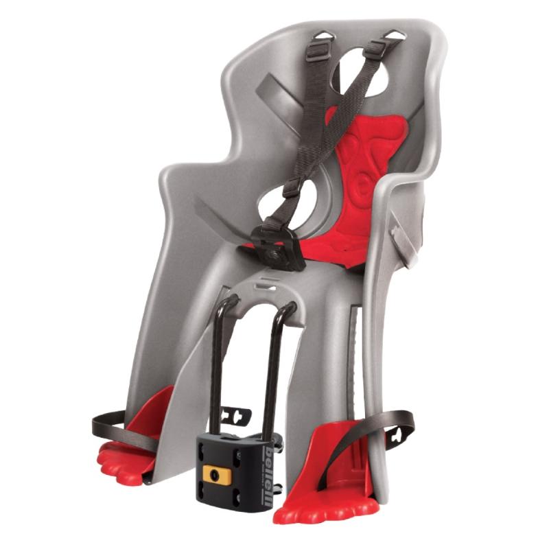 Dětská sedačka RABBIT B-FIX přední, stříbrná-červená