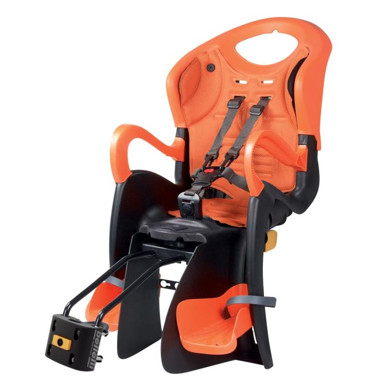 Dětská sedačka TIGER STAND.B-FIX zadní, černo-oranžová