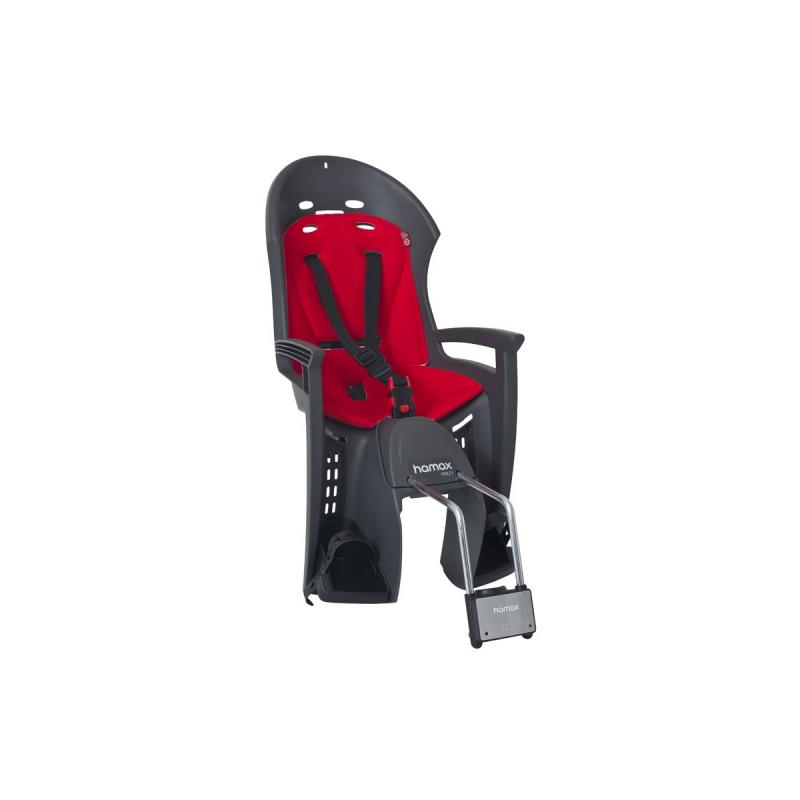 Dětská sedačka HAMAX SMILEY zadní, tmavě šedá/červená