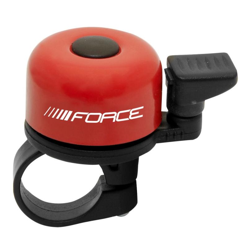 Zvonek FORCE MINI 22,2 mm, paličkový, červený