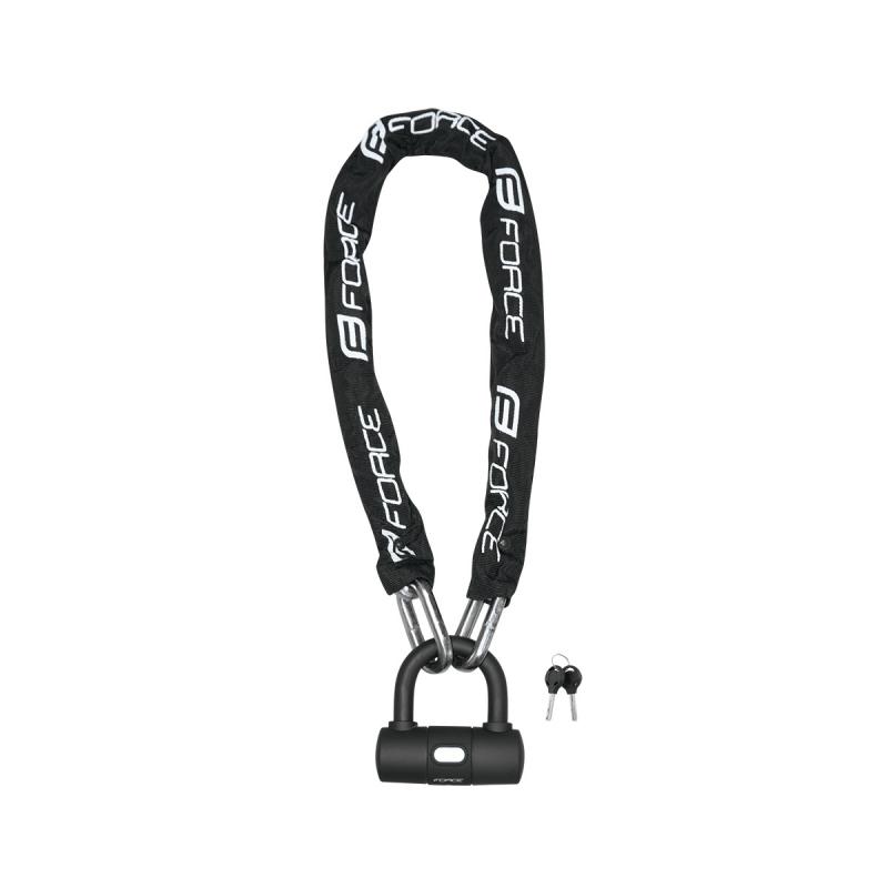 Zámek FORCE řetězový 100 cm/10 mm, černý
