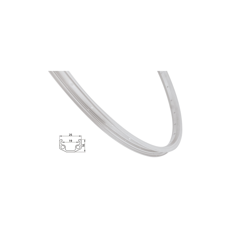Ráfek REMERX RMX219 507x19 36děr, stříbrný