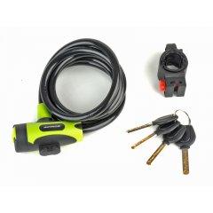 Zámek ASL-25 spir d.10x1500mm (zelená/černá)