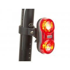Světlo zad. A-Duplex X6 20lm (černá/červené-sklo)