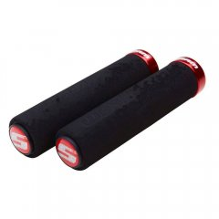 SRAM locking gripy pěnové, 129 mm, černá/červená