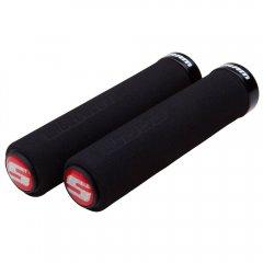 SRAM locking gripy pěnové, 129 mm, černá s černou objímkou