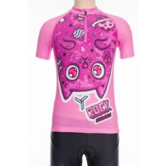 Silvini dětský cyklistický dres SCRIVIA, pink-pink