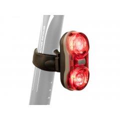 Světlo zad. A-Duplex X7 20 lm černá/červené-sklo