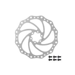 Kotouč brzdový FORCE, 6 děr, stříbrný