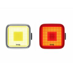 KNOG Blinder Black Twinpack - sada světel, design Square
