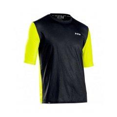 Northwave pánský cyklo dres Xtrail Jersey Short Sleeve, Black/Lime