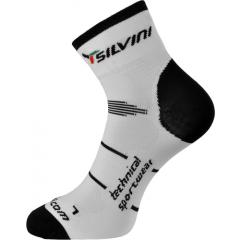 Silvini ponožky cyklistické nad kotník Orato, bílé