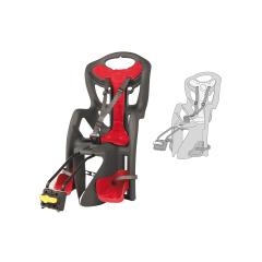 Dětská sedačka PEPE STANDARD zadní, šedá-červená