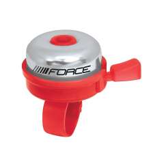 Zvonek FORCE KLASIK Fe / plast 22,2 mm, červený