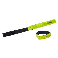 Pásek reflex FORCE s LED diodami 42 cm, žlutý