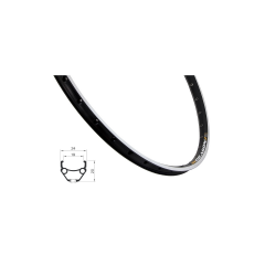 Ráfek REMERX DRAGON 507x19 36děr, černý