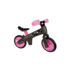 Dětské plastové odrážedlo, černo-růžové