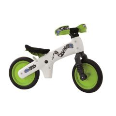 Dětské plastové odrážedlo, bílo-zelené
