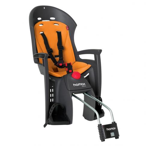 Dětská sedačka HAMAX SIESTA zadní, tmavě šedá/oranžová