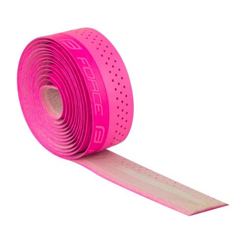 Omotávka FORCE PU s vytlačeným logem, růžová