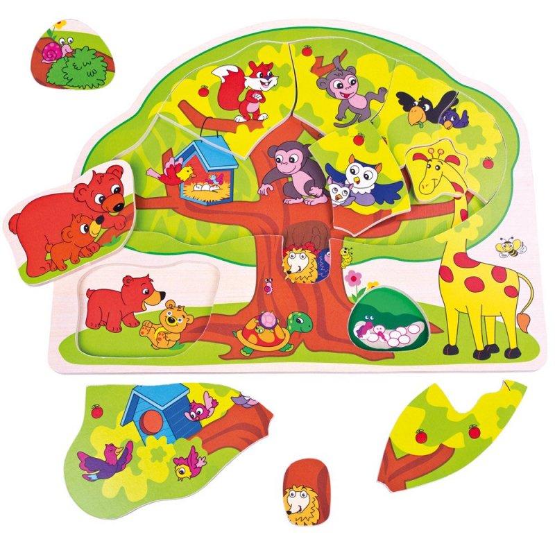 Puzzle veselá zvířátka